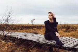 Portrait mit Nathalie im Hohen Venn.